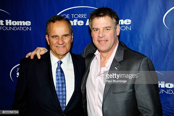 Joe Torre and John Wetteland attend the Joe Torre Safe At Home Foundation's 14th Annual Celebrity Gala at Cipriani 25 Broadway on November 9 2016 in...
