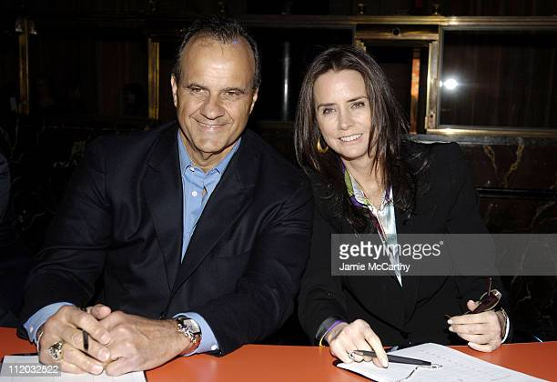 Joe Torre and Katie Ford during Paula Abdul and Randy Jackson Launch the New Gillette Fusion Razor at Cipriani in New York City New York United States