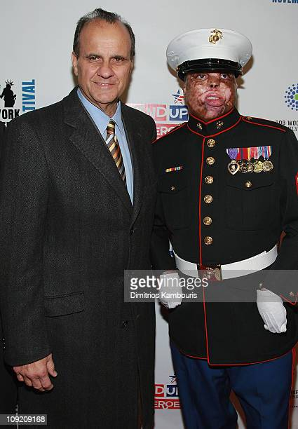 Joe Torre and US Marine Merlin German attend the NY Comedy Festival Event 'Stand Up for Heroes A Benefit for the Bob Woodruff Family Fund' on Nov 7...