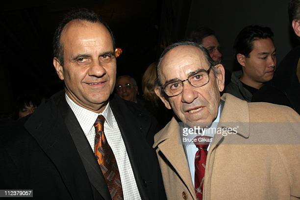 Joe Torre and Yogi Berra during Billy Crystal Makes His Broadway Debut in '700 Sundays' at The Broadhurst Theater/Tavern on the Green in New York NY...
