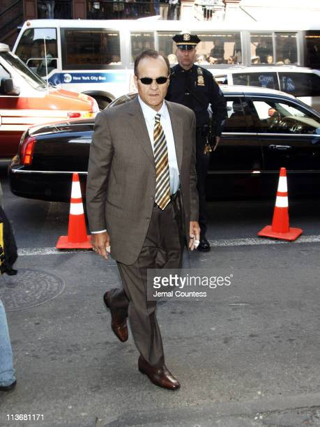Joe Torre arrives at the Memorial for Dana Reeve at the New Amsterdam Theatre on March 10, 2006 in New York City. Dana Reeve, wife of the late...