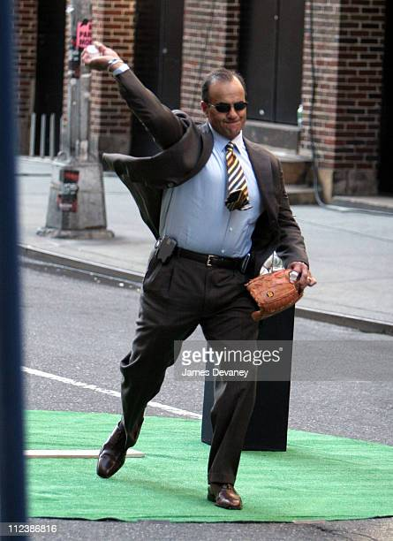 """Joe Torre during Billy Crystal, Joe Torre and Johnny Damon Visit the """"Late Show with David Letterman"""" - April 10, 2006 at Ed Sullivan Theatre in New..."""