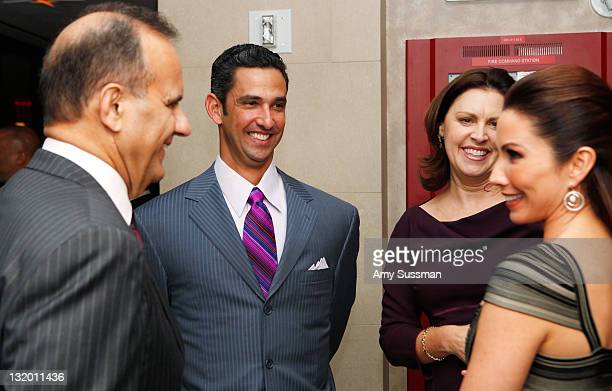 Joe Torre Jorge Posada Alice Wolterman and Laura Posada attend The Jorge Posada Foundation's Decade of Difference celebration on November 9 2011 in...