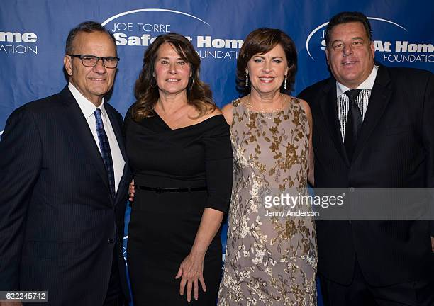 Joe Torre Lorraine Bracco Alice Wolterman and Steve Schirripa attend 14th Annual Joe Torre Safe At Home Foundation Celebrity Gala at Cipriani 25...