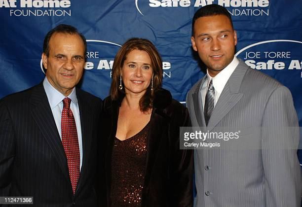 Joe Torre Lorraine Bracco and Derek Jeter during Joe Torre Safe at Home Foundation's Second Annual Gala at Pierre Hotel in New York City New York...