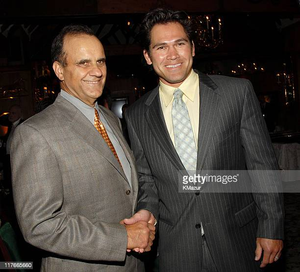 Joe Torre New York Yankees Manager and Johnny Damon of the New York Yankees