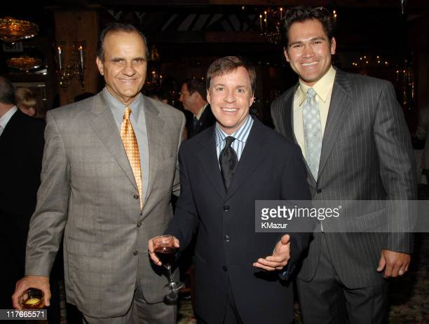 Joe Torre New York Yankees Manager Bob Costas and Johnny Damon of the New York Yankees