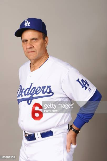 Joe Torre of the Los Angeles Dodgers poses during photo day at Camelback Ranch on February 21 2009 in Glendale Arizona