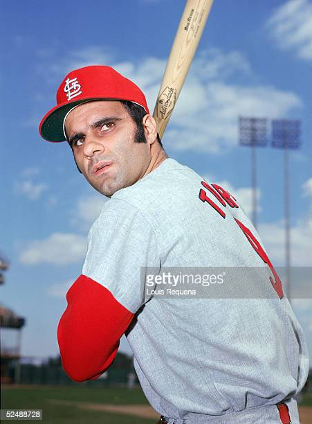 Joe Torre of the St Louis Cardinals poses for an action portrait Torre played for the Cardinals from 196974