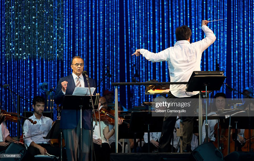 Joe Torre speaks on stage during 2013 Major League Baseball All-Star Charity Concert starring The New York Philharmonic with Special Guest Mariah Carey Benefiting Sandy Relief at Central Park, Great Lawn on July 13, 2013 in New York City.