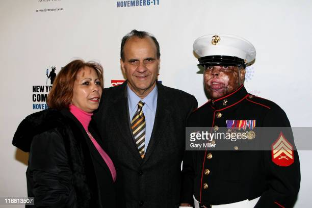 Joe Torre with Sgt Merlin German attend 'Stand Up For Heroes' a benefit for the Bob Woodruff Family Fund at The Town Hall in New York City on...