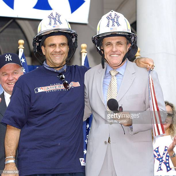 Joe Torre Yankees' manager and Rudolph Giuliani former New York City mayor