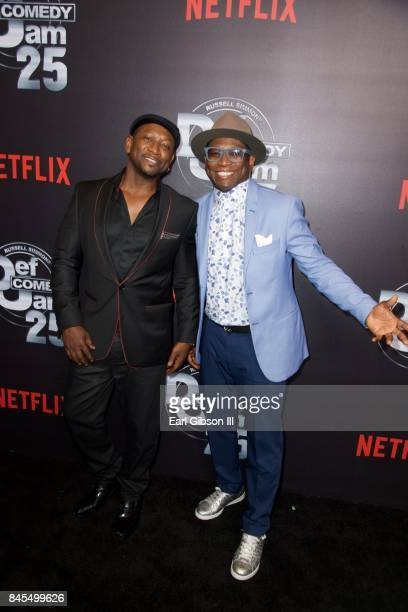 Joe Torry and brother Guy Torry attend Netflix Presents Russell Simmons 'Def Comdey Jam 25' Special Event at The Beverly Hilton Hotel on September 10...
