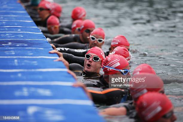 Joe Townsend of Great Britain competes in the Paratriathlon Male Tri-1 race on October 22, 2012 in Auckland, New Zealand.