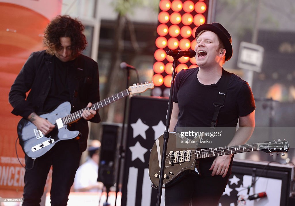 Joe Trohman and Patrick Stump of Fall Out Boy perform on NBC's 'Today' at the NBC's TODAY Show on June 12, 2015 in New York, New York.