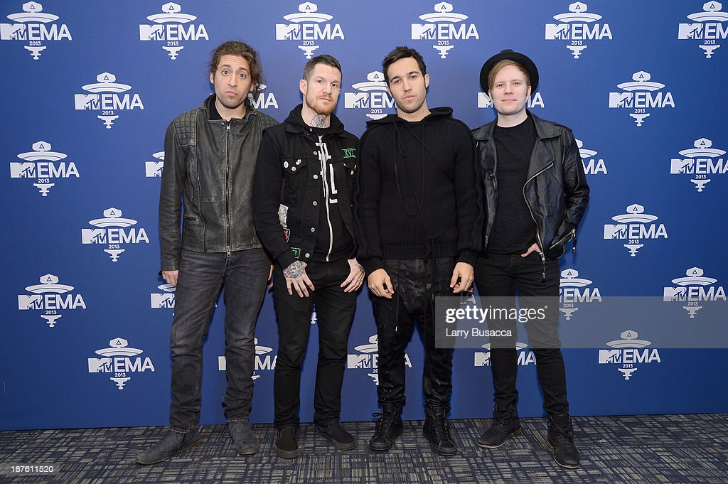 Mtv 2013 uema us telecast meet greet photos and images getty joe trohman andy hurley pete wentz and patrick stump of fall out boy attend m4hsunfo Choice Image