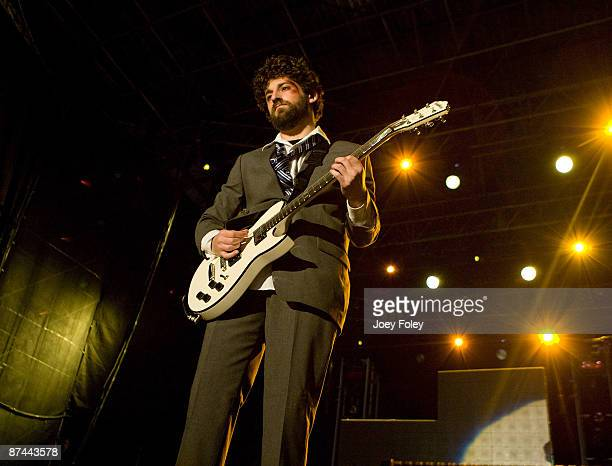 Joe Trohman of Fall Out Boy performs at The Lawn at White River State Park on May 15 2009 in Indianapolis Indiana