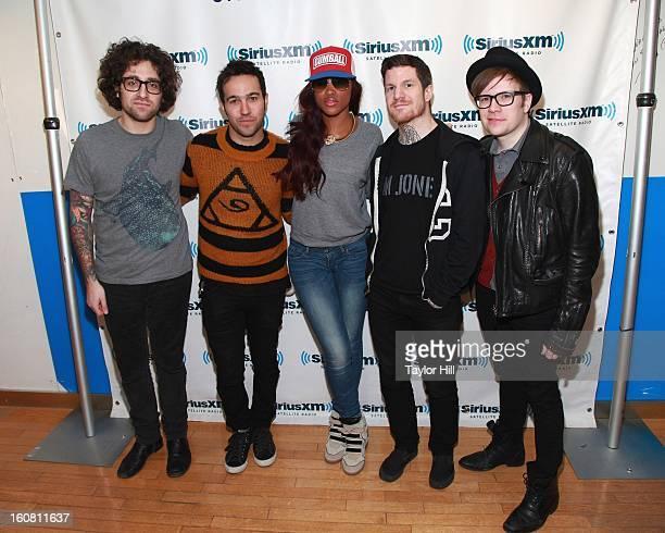 Joe Trohman Pete Wentz Eve Andy Hurley and Patrick Stump visit SiriusXM Studios on February 6 2013 in New York City