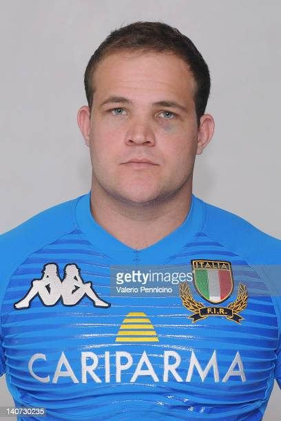 Joe Van Niekerk poses during an Italy A Rugby Union portrait Session on March 5 2012 in Tirrenia Italy