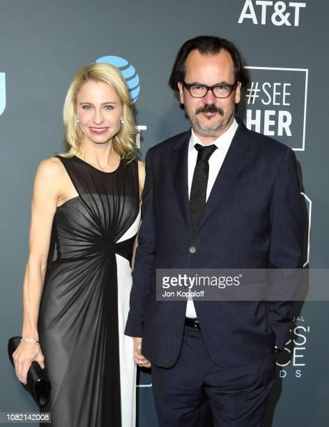 Joe Walker and guest attend the 24th annual Critics' Choice Awards at Barker Hangar on January 13 2019 in Santa Monica California