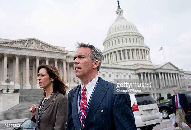 Joe Walsh and his wife Helene Walsh walk near the US Capitol Monday November 15 2010 in Washington DC The new congressman's emergence as a national...