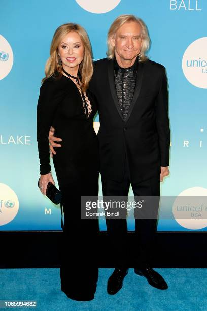 Joe Walsh and his wife Marjorie Bach attend the UNICEF USA's 14th Annual Snowflake Ball at Cipriani Wall Street on November 27 2018 in New York City