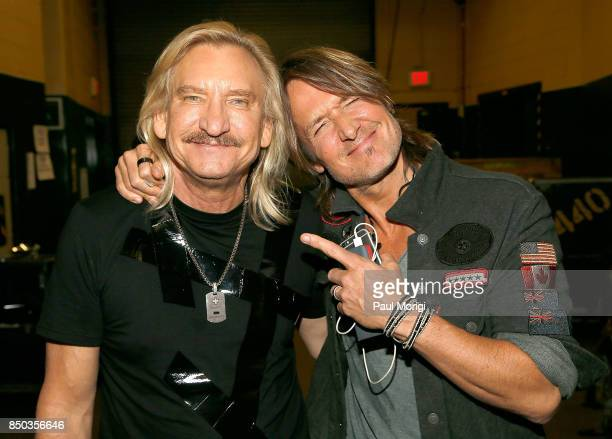 Joe Walsh and Keith Urban backstage the VetsAid Charity Benefit Concert at Eagle Bank Arena on September 20 2017 in Fairfax Virginia VetsAid is a...
