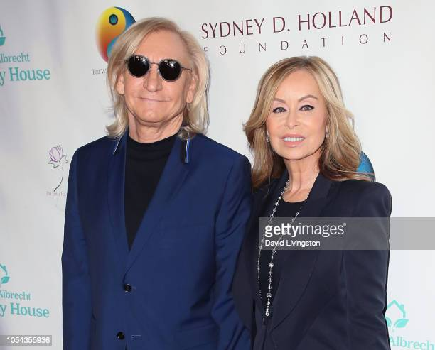 Joe Walsh and Marjorie Bach Walsh attend the Peggy Albrecht Friendly House's 29th Annual Awards Luncheon at The Beverly Hilton Hotel on October 27...