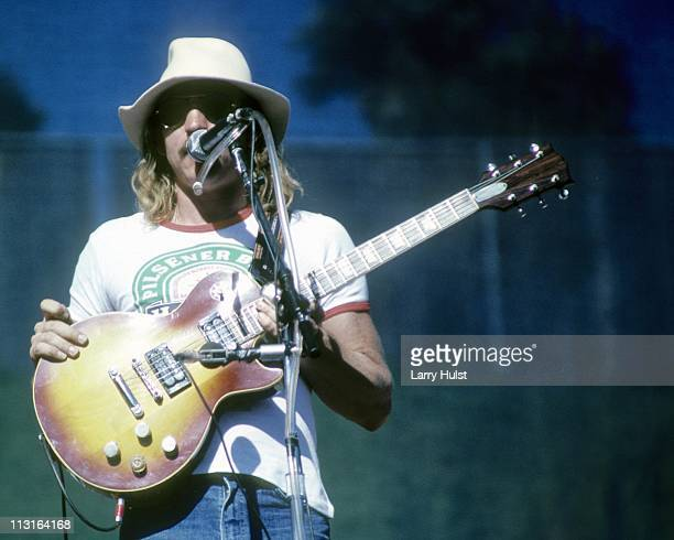 Joe Walsh and the Eagles perform at the Oakland Coliseum in Oakland California on August 3 1976