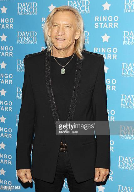 Joe Walsh arrives at The David Lynch Foundation honors Ringo Starr with The Lifetime Of Peace Love Award held at El Rey Theatre on January 20 2014 in...
