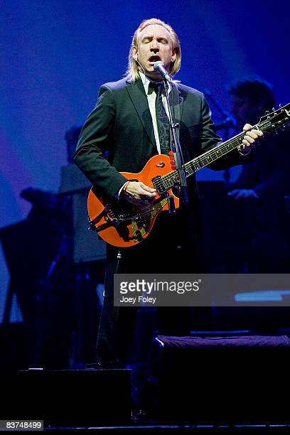 Joe Walsh of The Eagles performs live on the Long Road Out Of Eden Tour at U S Bank Arena on November 18 2008 in Cincinnati Ohio
