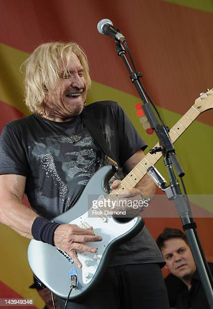 Joe Walsh performs during the 2012 New Orleans Jazz Heritage Festival Day 6 at the Fair Grounds Race Course on May 5 2012 in New Orleans Louisiana