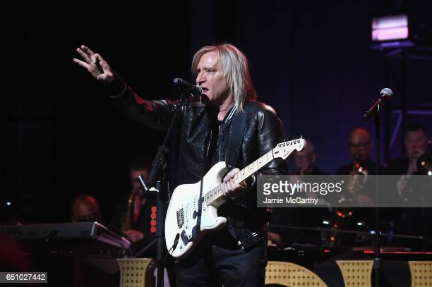 Joe Walsh performs onstage during Love Rocks NYC A Change is Gonna Come Celebrating Songs of Peace Love and Hope A Benefit Concert for God's Love We...