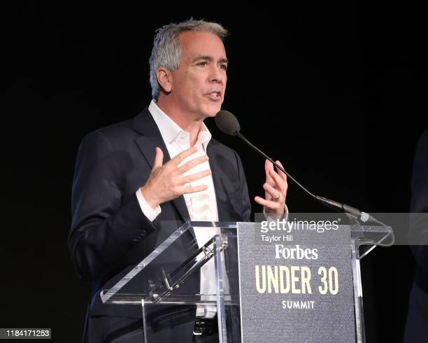 Joe Walsh speaks during a debate between Republican presidential primary challengers at the 2019 Forbes 30 Under 30 Summit on October 28 2019 at...