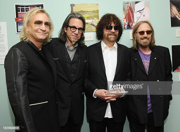 Joe Walsh Vice President of the GRAMMY Foundation Scott Goldman Jeff Lynne and Tom Petty attend Reel to Reel Mr Blue Sky The Story of Jeff Lynne and...