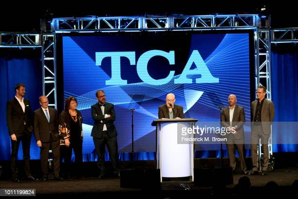 Joe Weisberg and the cast and crew of The Americans accept the Program of the Year award onstage during the 34th Annual Television Critics...