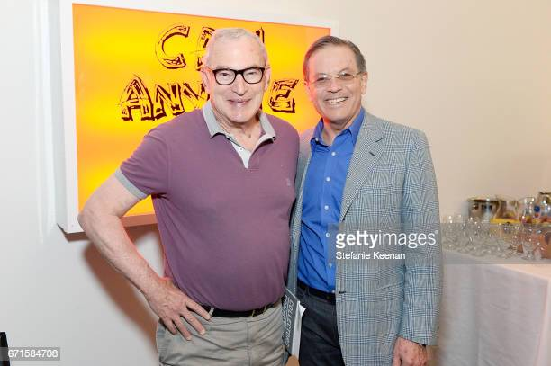 Joe Wender and Arie Belldegrun attend LACMA 2017 Collectors Committee Breakfast and Curator Presentations at LACMA on April 22 2017 in Los Angeles...