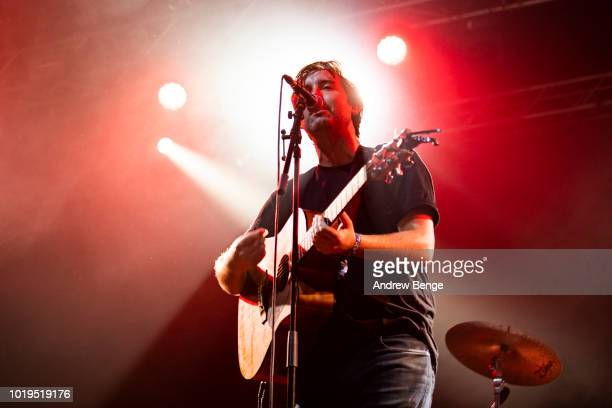 Joe White of Rolling Blackouts Coastal Fever performs on the Far Out stage during day 3 at Greenman Festival on August 19, 2018 in Brecon, Wales.
