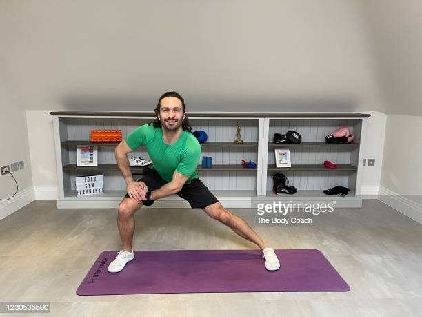 Joe Wicks aka 'The Body Coach is seen during his live PE With Joe on January 11, 2021 in London, United Kingdom. As the UK enters it's third lockdown...