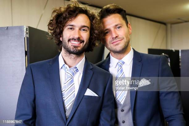 Joe Wicks and Mark Wright attend the Matalan suit fitting for Soccer Aid at Chelsea Harbour Hotel on June 13 2019 in London England Matalan is the...