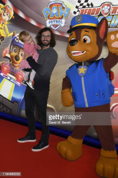 """Joe Wicks attends the gala screening of """"Paw Patrol"""" at Cineworld Leicester Square on January 19, 2020 in London, England."""