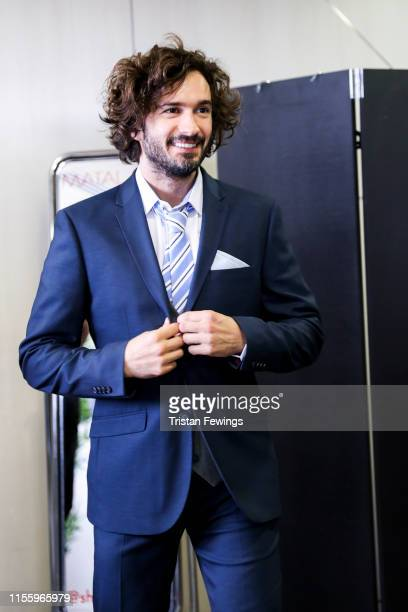 Joe Wicks attends the Matalan suit fitting for Soccer Aid at Chelsea Harbour Hotel on June 13 2019 in London England Matalan is the official...