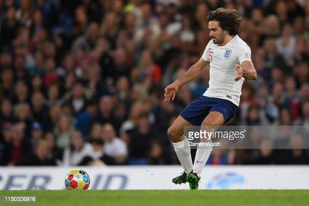Joe Wicks during the Soccer Aid for UNICEF 2019 England v Soccer Aid World XI at Stamford Bridge on June 26th 2019 in London England