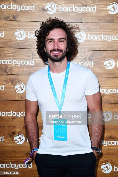 Joe Wicks enjoying Barclaycard Exclusive area at Barclaycard presents British Summer Time Hyde Park at Hyde Park on July 2 2017 in London England