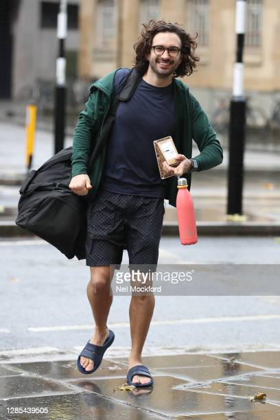 Joe Wicks leaving BBC Broadcasting house after his 24 hour PE Challenge Workout for BBC Children In Need 2020 on November 13, 2020 in London, England.