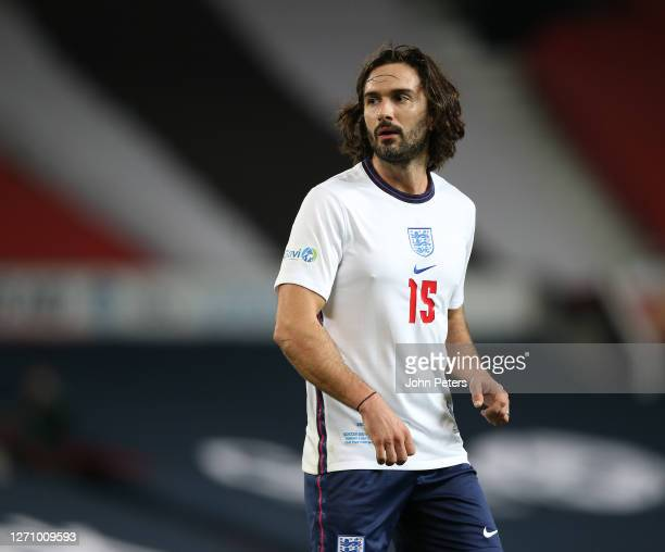 Joe Wicks of England in action during the Soccer Aid for Unicef 2020 match between England and Rest of the World at Old Trafford on September 06,...