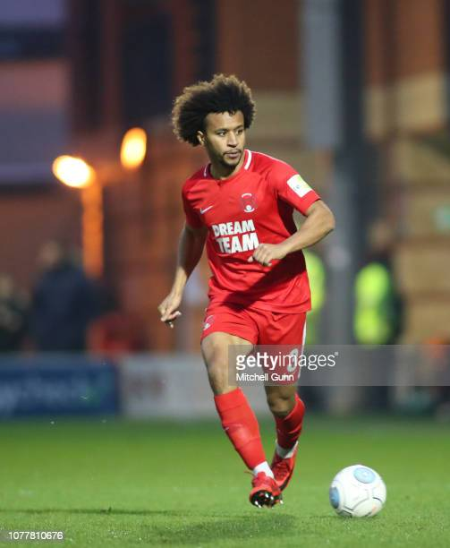 Joe Widdowson of Leyton Orient during the Vanarama National League match between Leyton Orient and Salford City at The Breyer Group Stadium on...