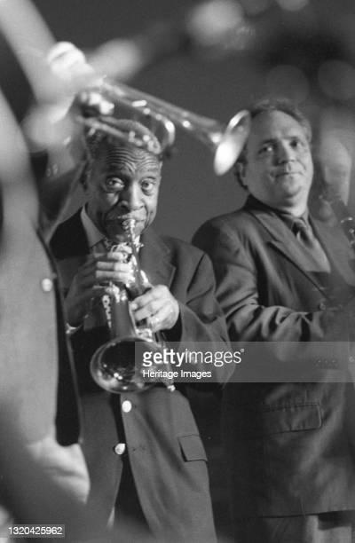Joe Wilder and Ken Peplowski Swinging Jazz Party, Blackpool, 2005. Artist Brian Foskett.