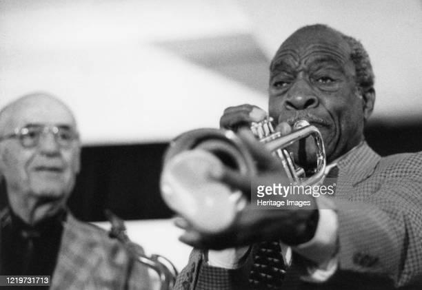 Joe Wilder, Flip Phillips, Arbor Records March of Jazz Festival, Clearwater Beach, Florida, 1997. Artist Brian Foskett.