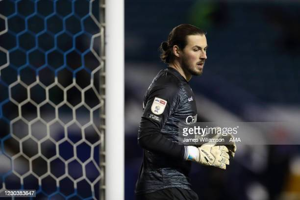 Joe Wildsmith of Sheffield Wednesday during the Sky Bet Championship match between Sheffield Wednesday and Derby County at Hillsborough Stadium on...